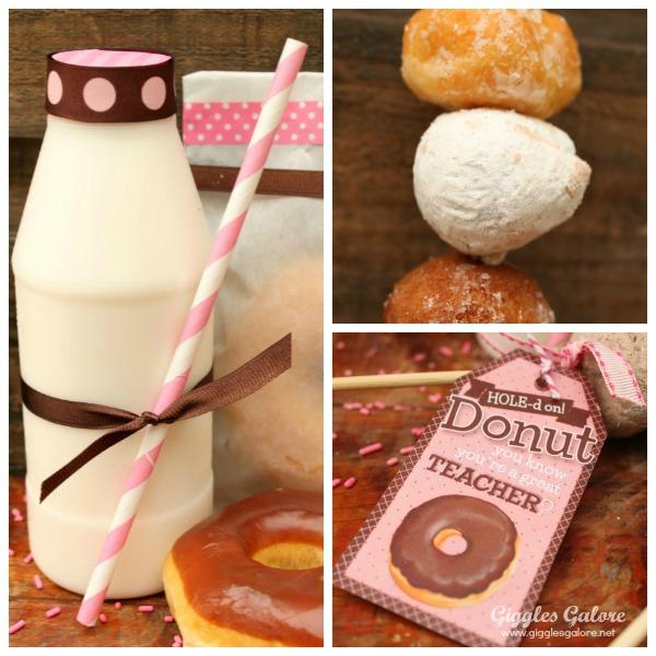 Donut and milk teacher appreciation