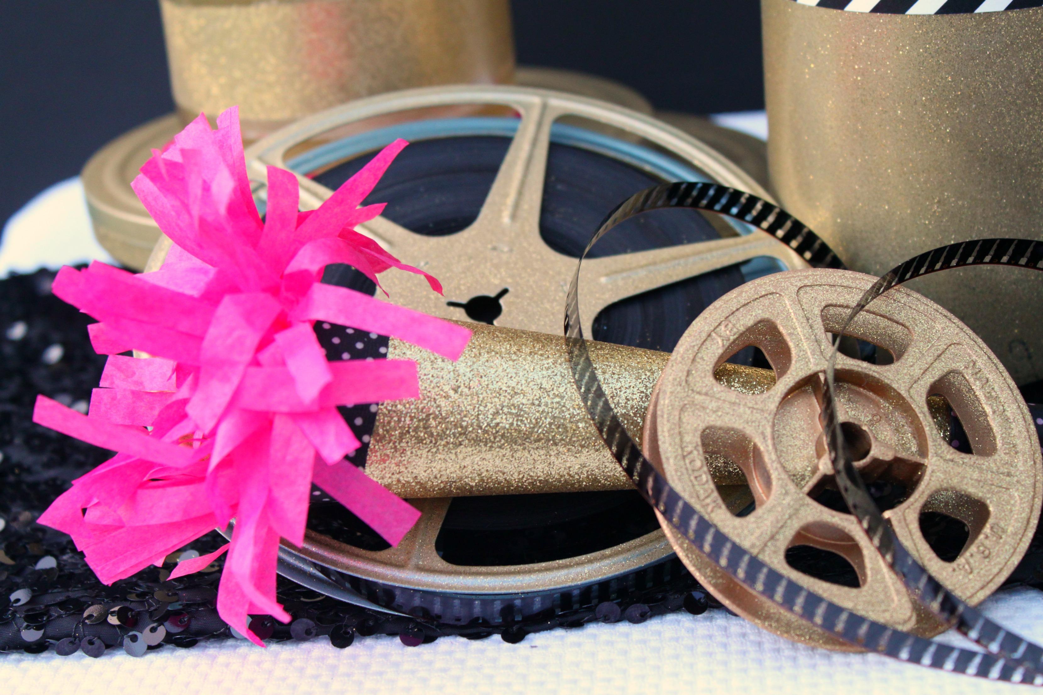 Movie Reel Centerpieces Stacked Movie Reels
