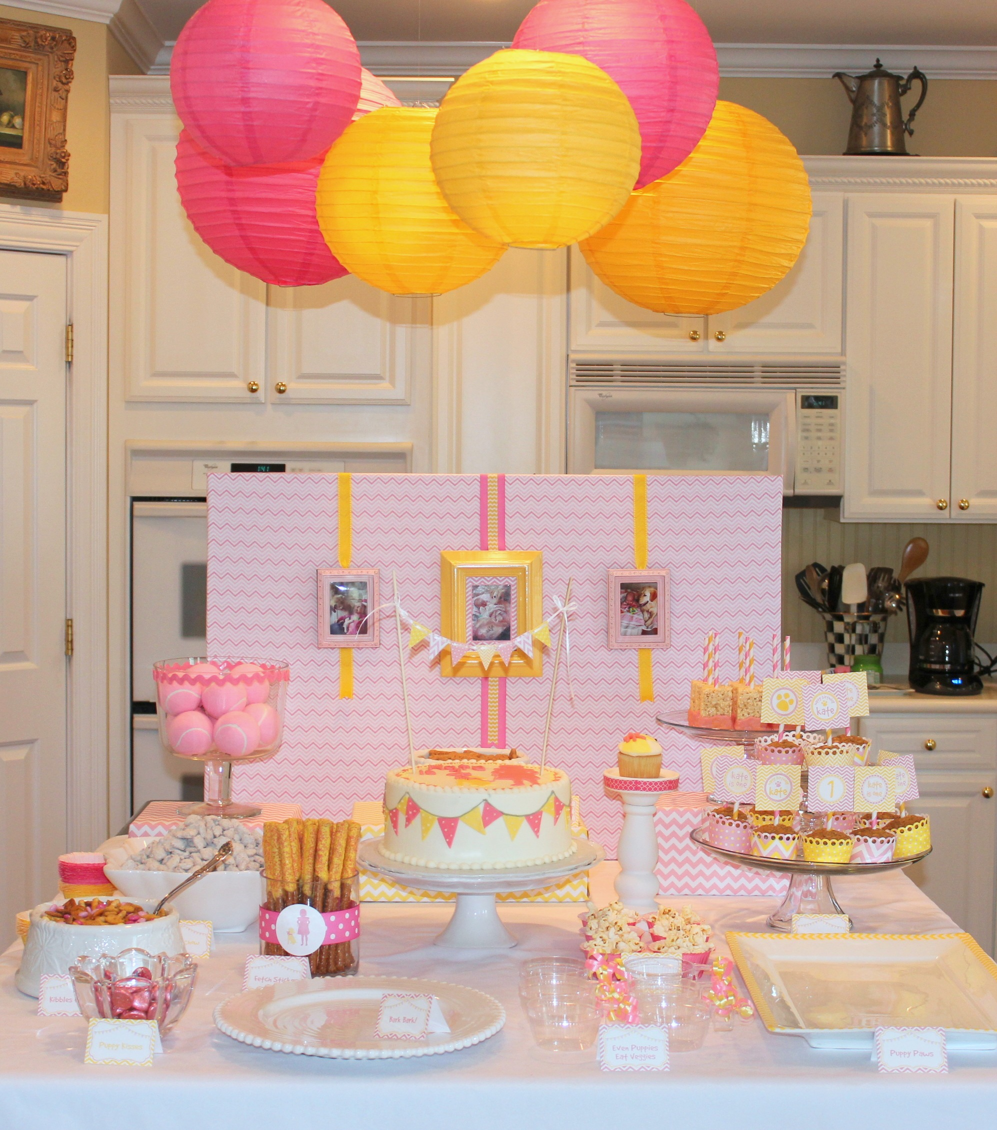 Admirable Pink And Yellow Puppy Party Giggles Galore Funny Birthday Cards Online Ioscodamsfinfo
