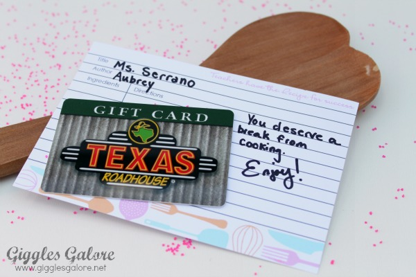 Recipe for success gift card