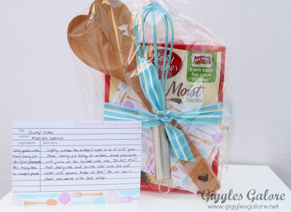 Recipe for success teacher appreciation gift