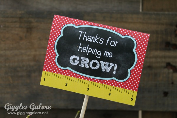 Thanks for helping me grow free printable