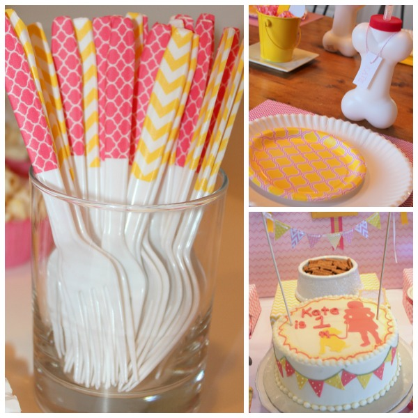 Washi tape forks and cake