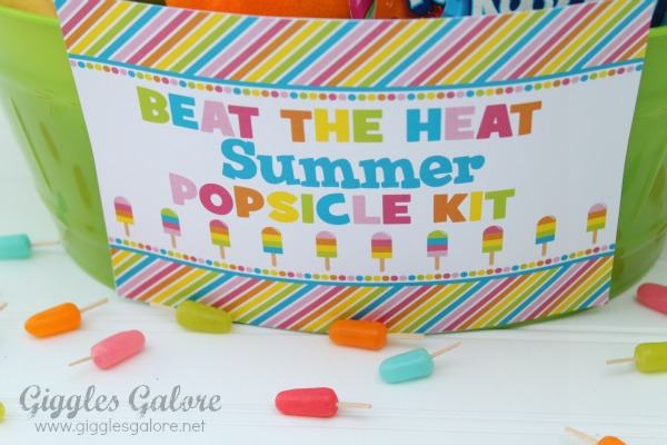Beat the heat summer popsicle kit sign