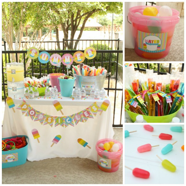 Cool popsicle party