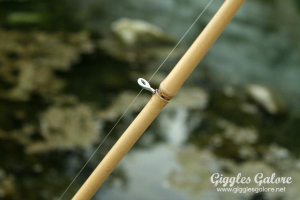 Diy fishing pole screw eye
