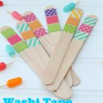 Washi Tape Popsicle Sticks