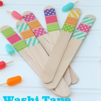 Washi Tape Popsicle Sticks
