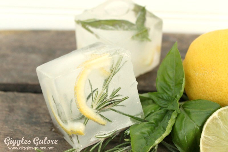 Herb infused colossal ice cubes1