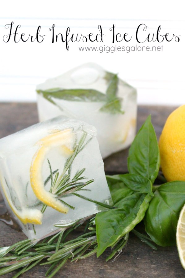 Herb infused ice cubes1