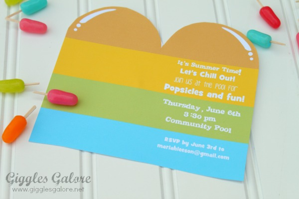 Popsicle invitation
