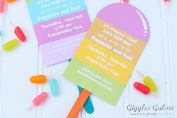 Popsicle stick invitation