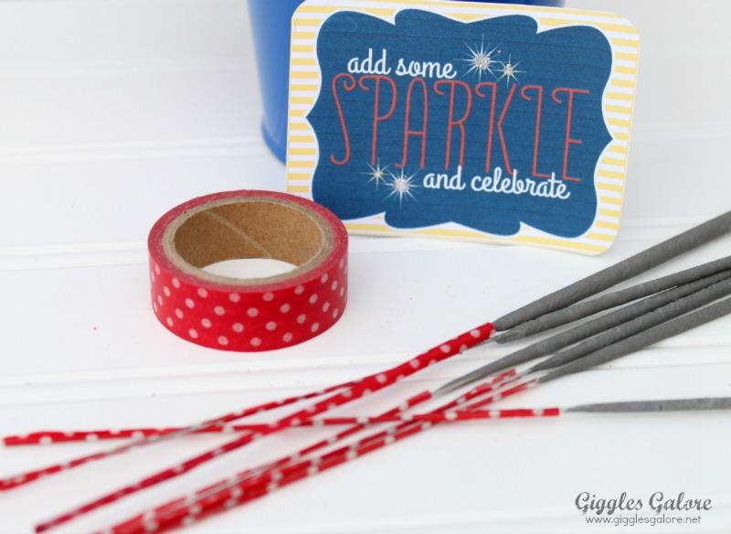Red polka dot washi tape sparklers1