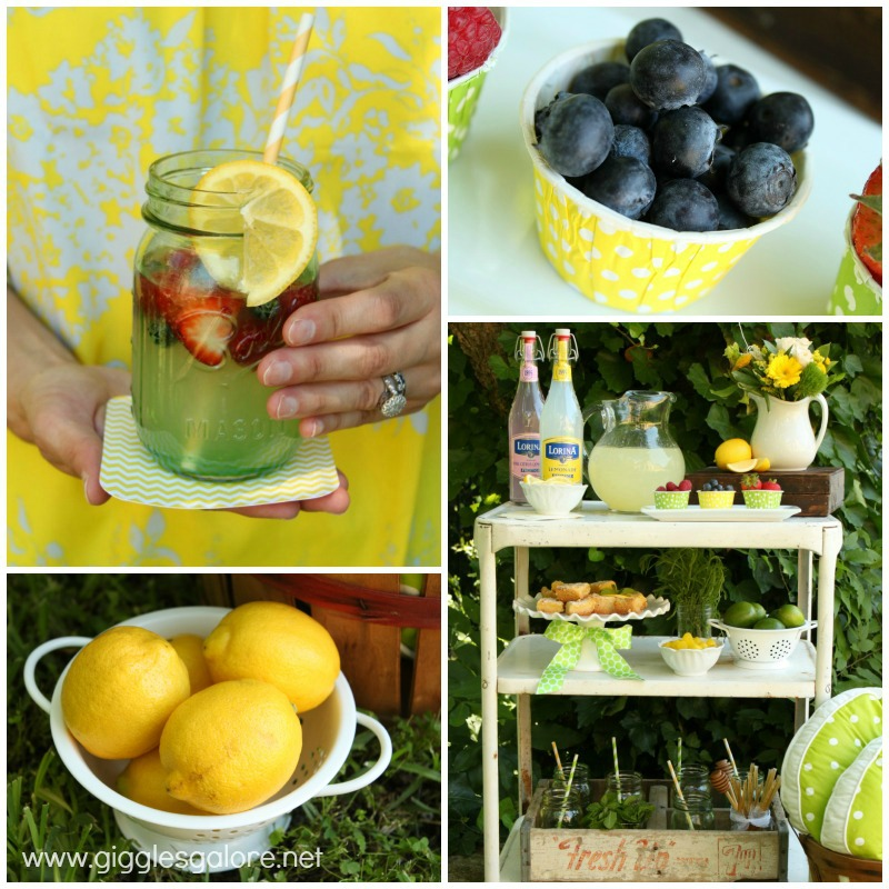 Summer lemonade with garnish
