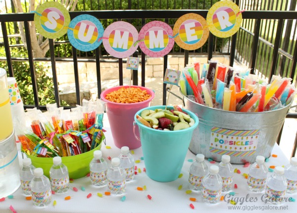 Summer popsicle party