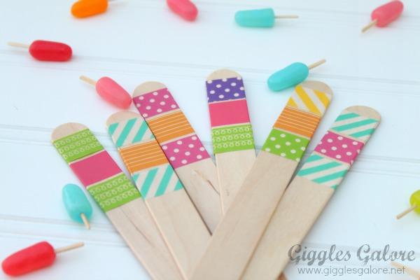 Washi tape popsicle sticks1