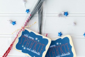 Washi Tape Sparklers via Giggles Galore