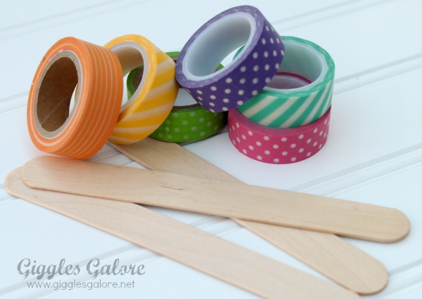 Washi tape and popsicle sticks