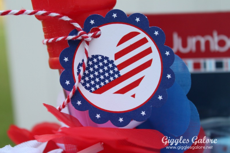 4th of July Celebration Bucket Tags