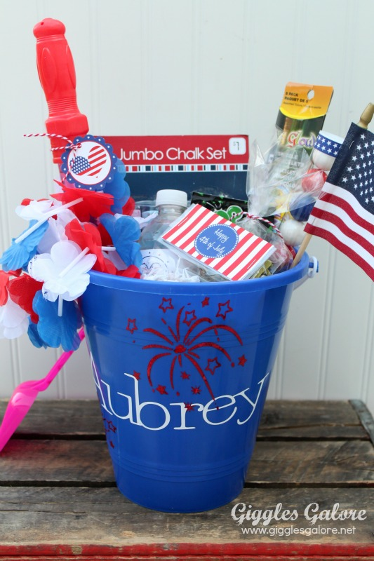 4th of July Celebration Bucket