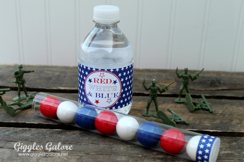 4th of july gumball tube