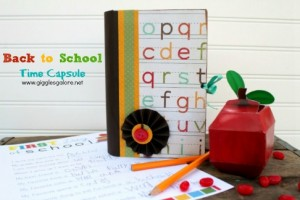Back to School Time Capsule By Giggles Galore