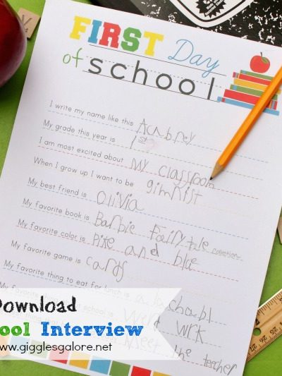 Giggles galore back to school interview