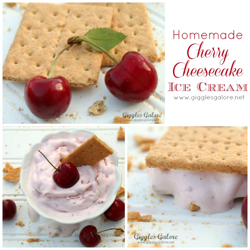 Homemade Cherry Cheesecake Ice Cream