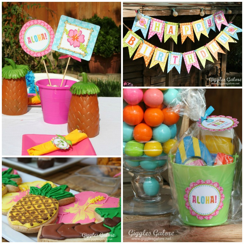 Luau Birthday Party Decorations