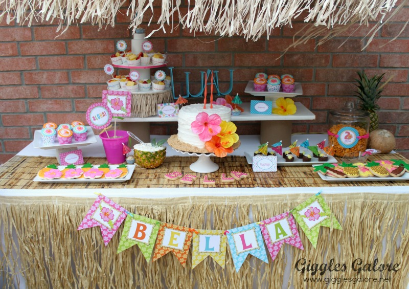 Luau Birthday Party Dessert Table