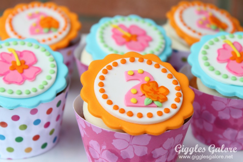 Luau Cupcake Toppers Birthday Treats
