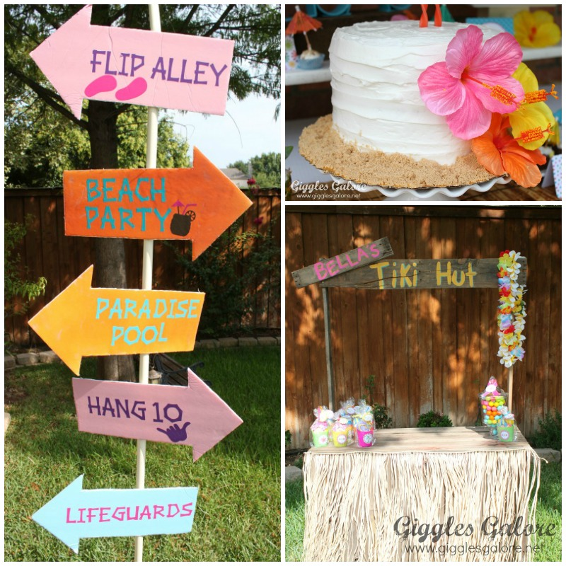 luau birthday party giggles galore. Black Bedroom Furniture Sets. Home Design Ideas