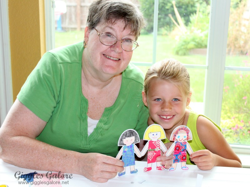 Making Paper Dolls with Kiwi Crate