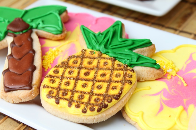 Pineapple Cookies_Luau Party
