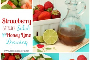 Strawberry Spinach Salad with Honey Lime Dressing