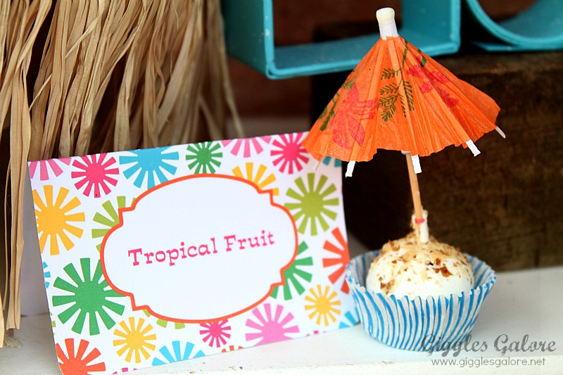 Tropical Fruit Luau Party