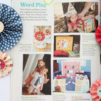 Parents Magazine Feature: Vintage Dick and Jane Party