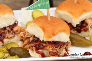 Game Day Apple Bourbon Pork Sliders