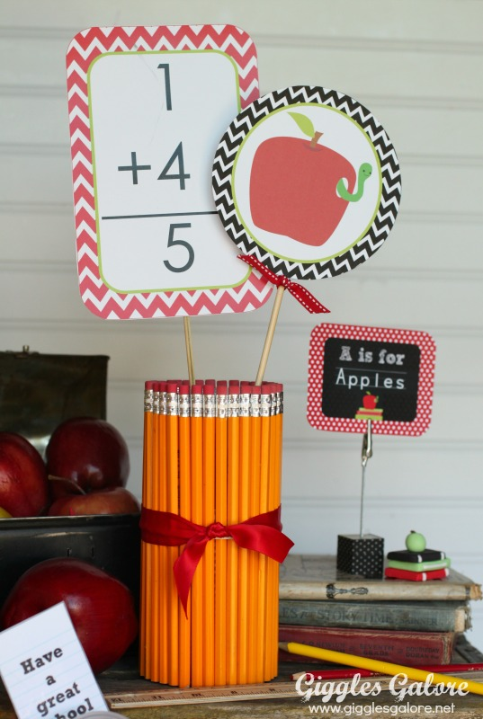 Back to School Breakfast Decorations