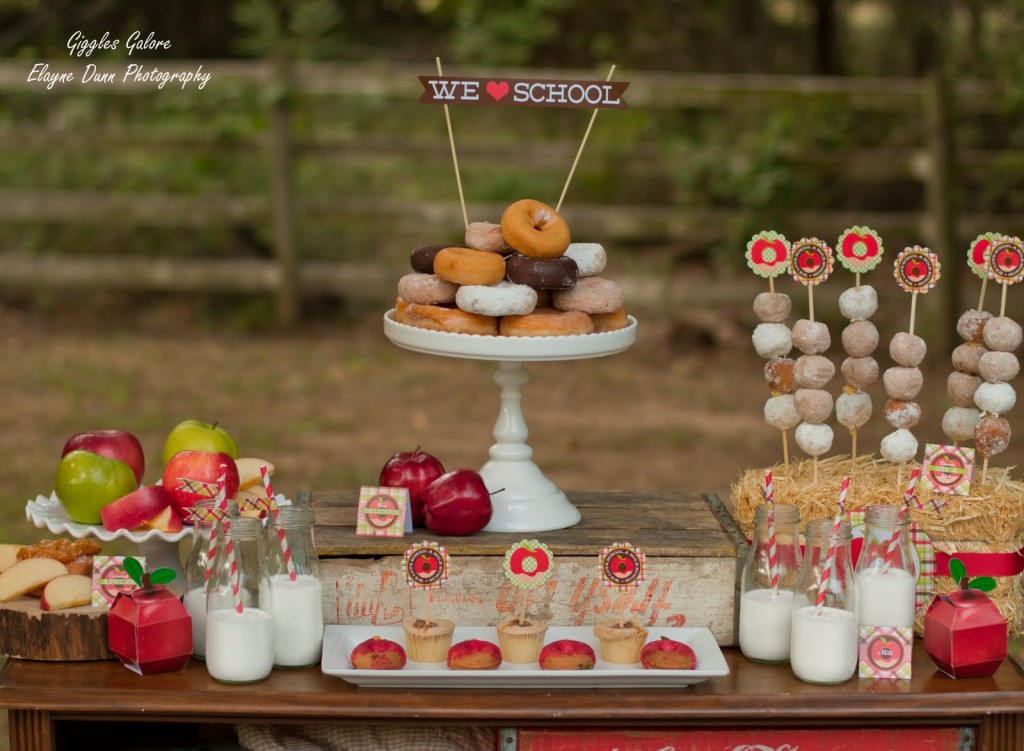 Back to School Breakfast Party with Donuts