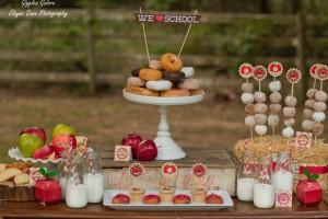 Apples and Donuts Back to School Party