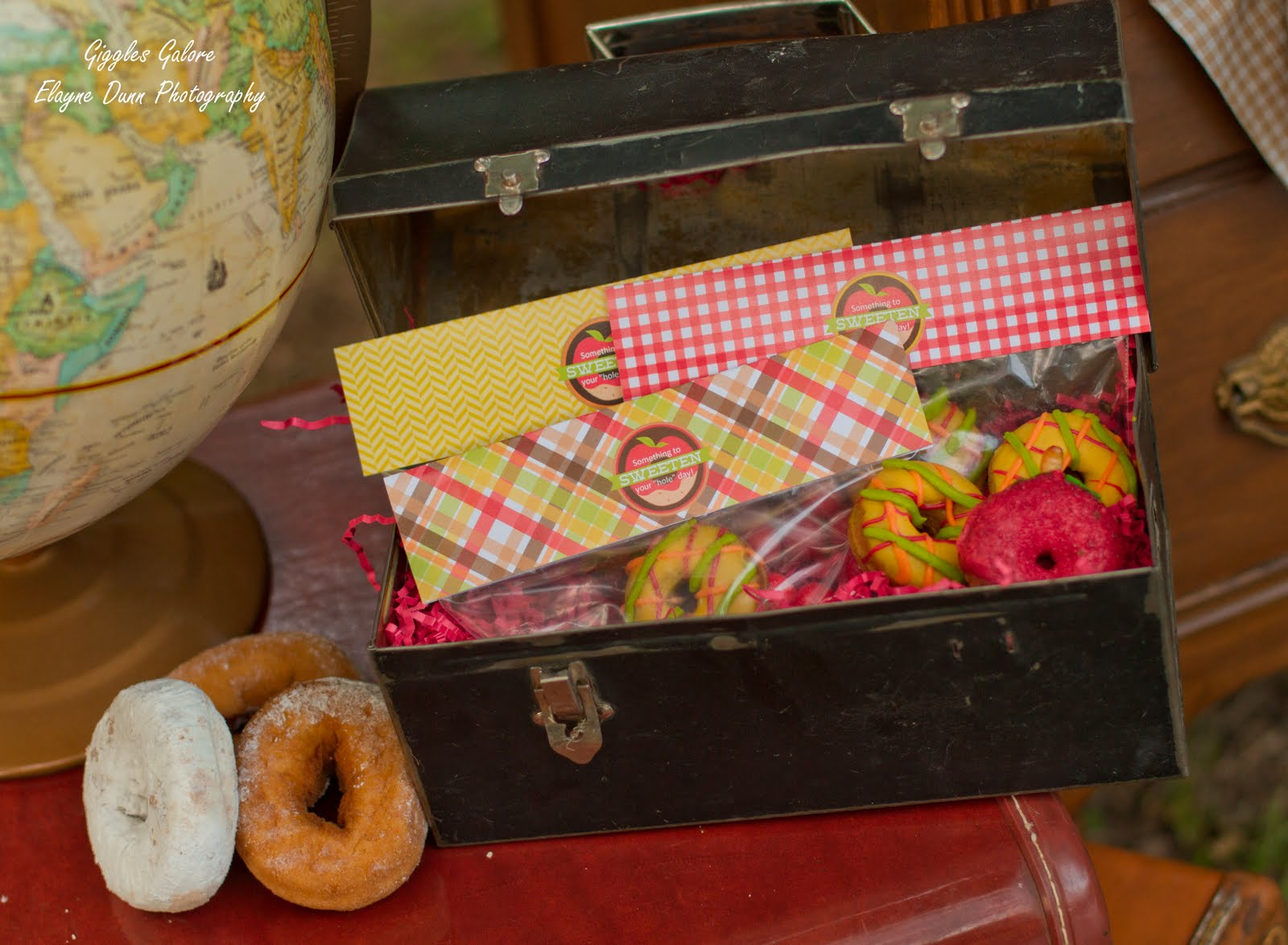pin this back to school donut party favors