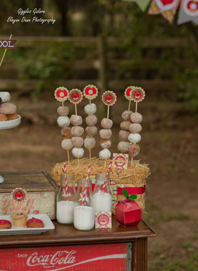 Back to School Party Donuts on a Stick
