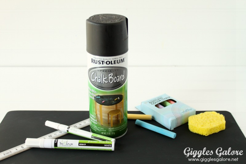 Chalkboard Placemat Supplies