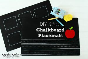 DIY Chalkboard Placemats & Back to School Blog Hop with 10 Chalkboard Ideas