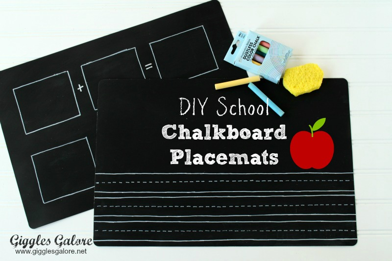 Giggles Galore Chalkboard Placemats