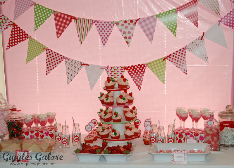 Giggles Galore Strawberry Shortcake Party