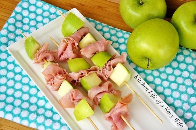 Ham and Apple Skewers