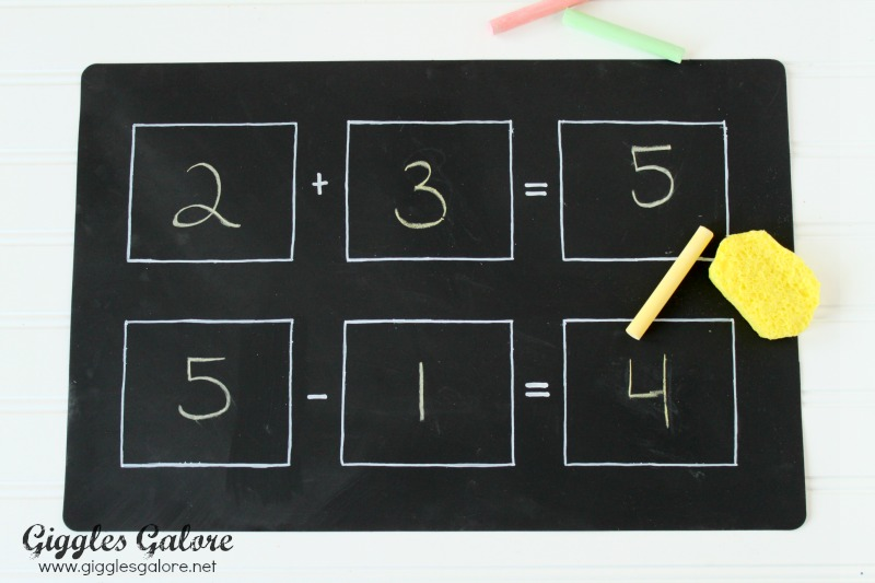 Math Chalkboard Placemat
