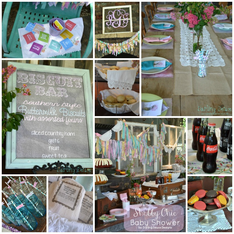 Shabby Chic Biscuit Bar Baby Shower